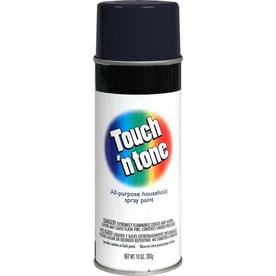 Rust-Oleum Touch and Tone Multi-Purpose Black Fade Resistant Enamel Spray Paint (Actual Net Contents: 10-oz)