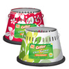 Cutter 4-in Floral Painted Deck Citronella Candle