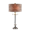 28.25-in 3-Way Clear Indoor Table Lamp with Fabric Shade