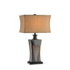 29-in Three-Way Multi Color Table Lamp with Gold Shade