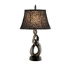 29-in Gun Metal Table Lamp with Black Shade