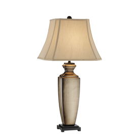 Natalia Series 33.5-in Yellow/Gold Indoor Table Lamp with Fabric Shade