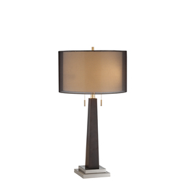  29-in Ebony Table Lamp with Black Shade