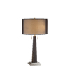 29-in Ebony Touch On/Off Indoor Table Lamp with Fabric Shade