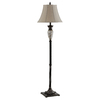 62-in Bronze Touch On/Off Indoor Table Lamp with Fabric Shade