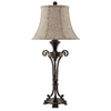 33.5-in Oil-Rubbed Bronze Touch On/Off Indoor Table Lamp with Fabric Shade