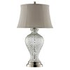 30-1/2-in Clear Table Lamp with Beige Shade