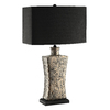 30-1/2-in Gray Earstone Ceramic Table Lamp with Black Shade