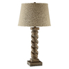 29-in Gray Touch Indoor Table Lamp with Fabric Shade