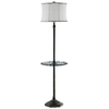 62-in Polished Nickel Table Lamp with White Shade