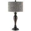 28-3/4-in Plated Aged Copper Table Lamp with Gray Shade