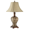 30-1/2-in Brown and Dark Coffee Table Lamp with Tan Shade