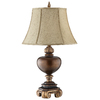 31-in Dark Caramel Table Lamp with Tan Shade