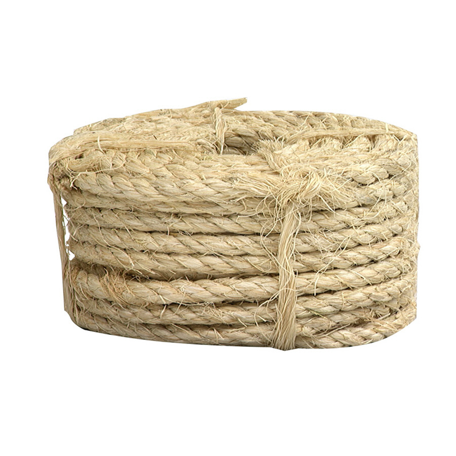 Shop Lehigh 3 8 In X 50 Ft Natural Twisted Sisal Rope At