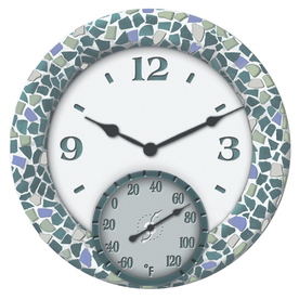 Shop garden treasures 14 indoor outdoor clock and for Garden treasures pool clock