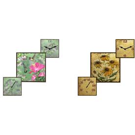 Shop garden treasures garden clock with thermometer at for Garden treasures pool clock