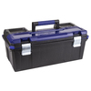 Kobalt Zerust 26-in Black Plastic Lockable Tool Box
