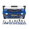 Kobalt 26-in Blue Plastic Lockable Tool Box