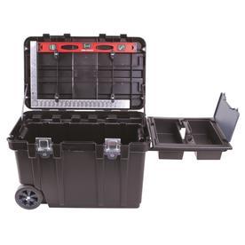 Blue Hawk 30.5-in Wheeled Black Plastic Tool Box