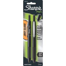 Sharpie 2-Pack Black Pen Grip Retractable Fine Point Pens