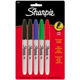Sharpie 5-Pack Sharpie Fine Assorted  Markers