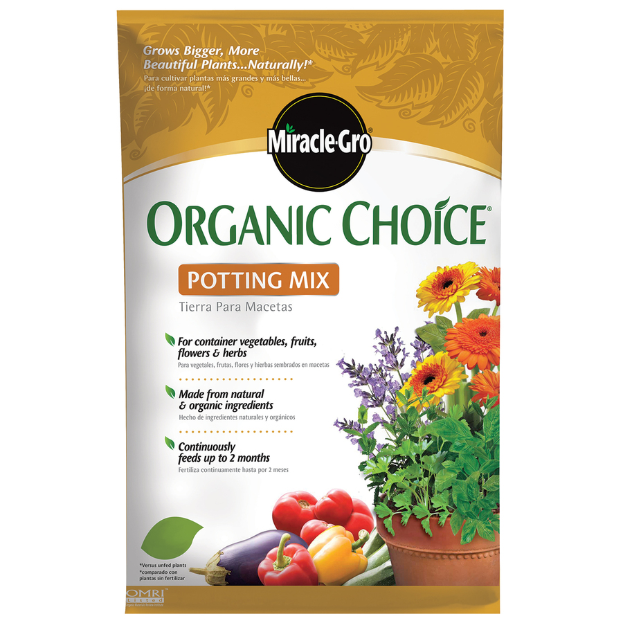 Shop miracle gro 32 quart organic potting soil at for Garden soil or potting soil