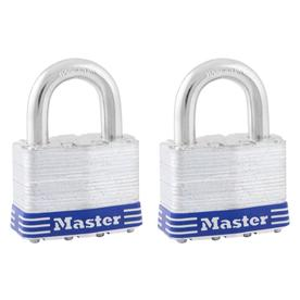 Master Lock 2-Pack 2-in W Steel Regular Shackle Keyed Padlocks