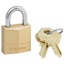 Master Lock Brass Regular Shackle Keyed Padlock