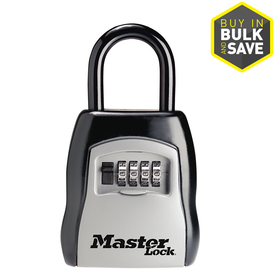 "Master Lock Key Safe, Portable, 3-1/14"" Wide, 1-13/32"" Shackle"
