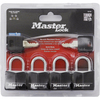 "Master Lock 4-Pack 1-3/16"" Covered Aluminum Padlock"