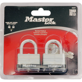 Master Lock 2-Pack 1-1/2&#034; Warded Padlock