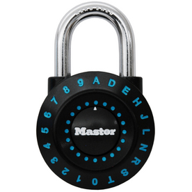 Master Lock 1.94-in Black Green Steel Combination Padlock