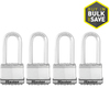 Master Lock 4-Pack 2.058-in W Steel Long Shackle Keyed Padlocks