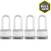 Master Lock 4-Pack 2.058-in W Steel Long Shackle Keyed Padlocks