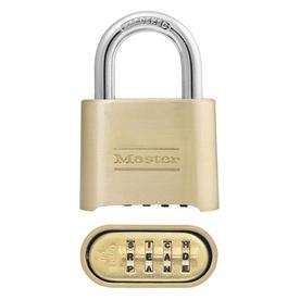 Master Lock 2-in Brass Brass Shackle Combination Padlock