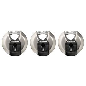 Master Lock 3-Pack 2.76-in Silver Steel Shackle Keyed Padlocks