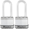Master Lock 2-Pack 1.73-in W Steel Long Shackle Keyed Padlocks