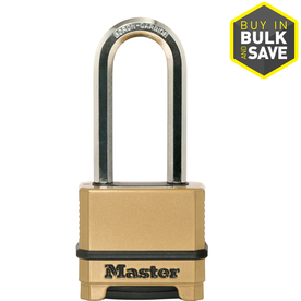 Master Lock 2.273-in Brass Brass Shackle Combination Padlock