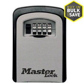"Master Lock Key Safe, Wall-Mount, 3-1/14"" Wide, 1-13/32"" Shackle"