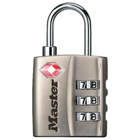 Master Lock 1-1/8&#034; Wide, TSA-Accepted Luggage Padlock, 3/4&#034; Shackle