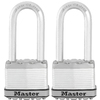 Master Lock 2-Pack 2.058-in W Steel Long Shackle Keyed Padlocks