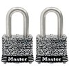 Master Lock 2-Pack 1.642-in W Steel Long Shackle Keyed Padlocks