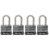Master Lock 4-Pack 1.642-in W Steel Long Shackle Keyed Padlocks