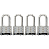 Master Lock 4-Pack 1.785-in W Steel Long Shackle Keyed Padlocks