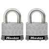 Master Lock 2-Pack 2.078-in W Steel Regular Shackle Keyed Padlocks