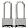Master Lock 2-Pack 2.078-in W Steel Long Shackle Keyed Padlocks