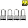 Master Lock 4-Pack 2.078-in W Steel Long Shackle Keyed Padlocks