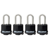 Master Lock 4-Pack 1.97-in W Steel Long Shackle Keyed Padlocks
