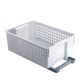 Rubbermaid 14-in W x 20-in D x 8.2-in H 1-Tier Wood Pull Out Cabinet Basket