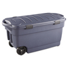 Rubbermaid Commercial Products Roughneck 42.3-in W x 20.6-in H x 21.3-in D Dark Indigo Metallic Plastic Bins